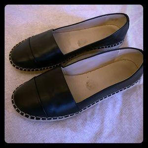ALDOS black espadrille flats size 7.5